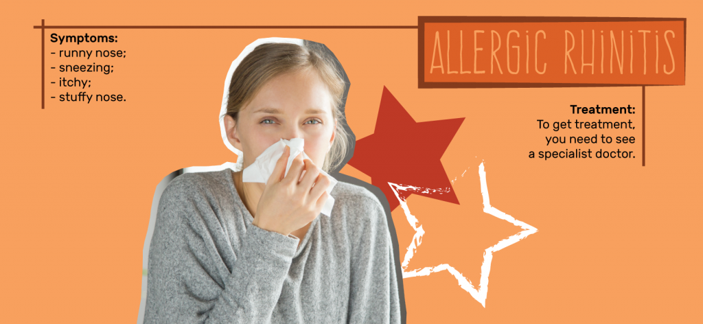 Learn more about symptoms and treatments for Rhinitis