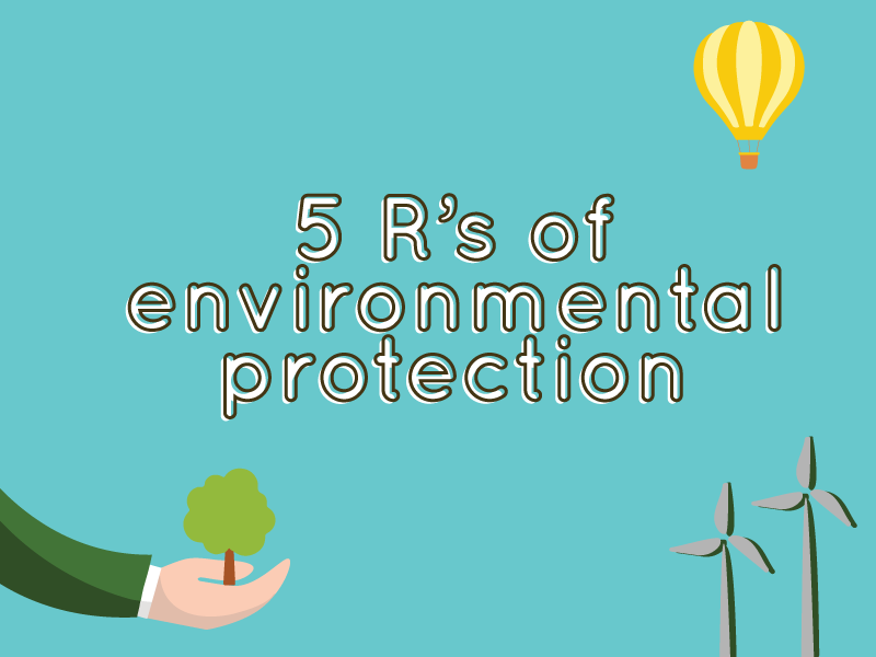 Do you know the five R's of environmental protection?