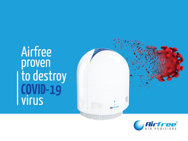 Airfree proven to eliminate SARS-CoV-2